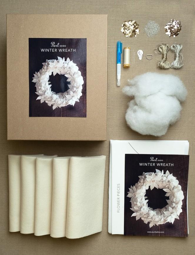 Purl Soho Winter Wreath Kit