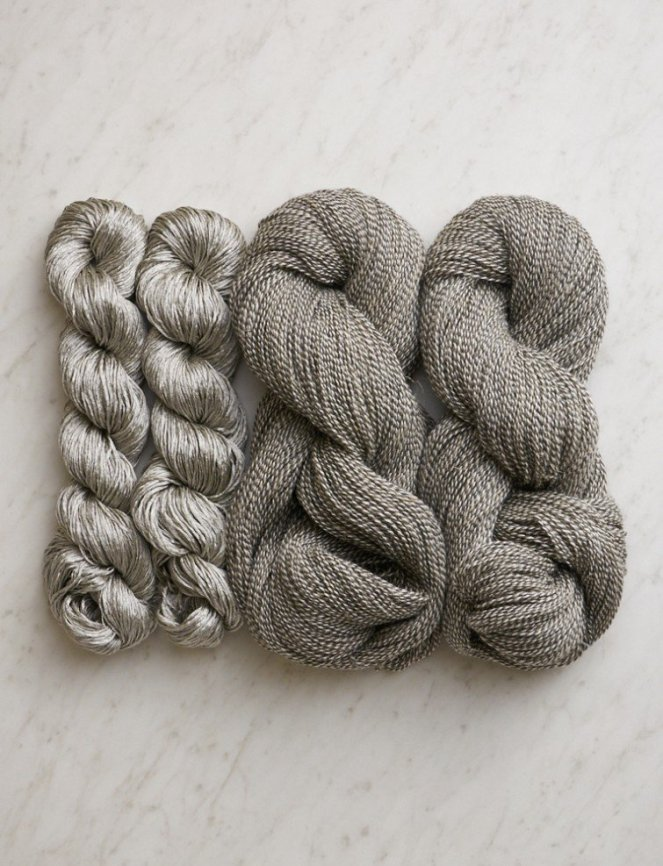 Purl Soho Shiny+Matte Wrap Yarn - Gray Granite